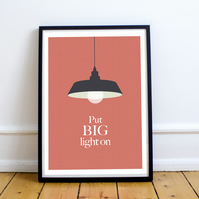 Yorkshire Print, Put Big Light On Illustration