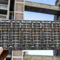 Brutalist Architecture Model Park Hill Flats Sheffield, FREE UK DELIVERY