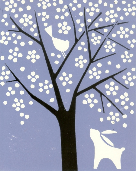 White Tree - Spring Blossom by The Bluebird Gallery on Folksy