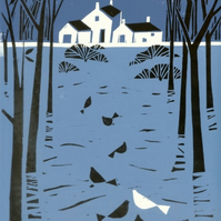 Farmhouse Lino Print