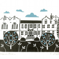 Treasurers House York - Yorkshire - Lino Print - Art - Original Linocut