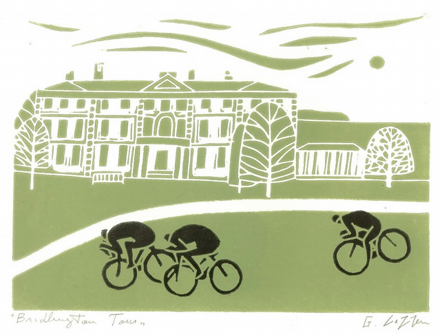 Tour De Yorkshire - Bridlington - Tour De France Print - Bicycle,Cyclist Gift