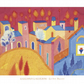 Golden Square - Tuscany LARGE hand signed poster print from a watercolour
