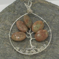 Jasper Tree of Life - Sterling Silver
