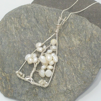Tree of Life Pendant - Sterling Silver and Freshwater Pearl
