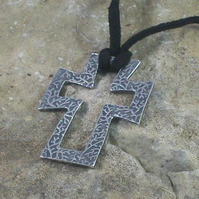 Silver Open Cross