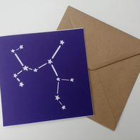 Sagittarius birthday greetings papercut card - zodiac star sign constellation