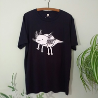 Cute Axolotl T-shirt - unisex, quirky illustration eco-friendly gift