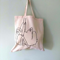 Cute Sloth eco-friendly reusable tote bag - charity donation