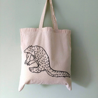 Cute Pangolin eco-friendly reusable tote bag - charity donation
