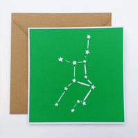 Virgo Constellation papercut card - zodiac star sign