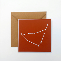 Capricorn Constellation papercut card - zodiac star sign