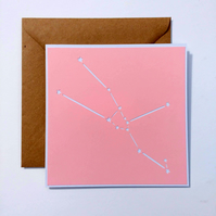Taurus Constellation papercut card with envelope - zodiac star sign