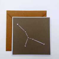 Cancer Star Sign Constellation papercut card with envelope