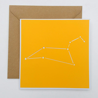 Leo Star Sign Constellation papercut card with envelope -