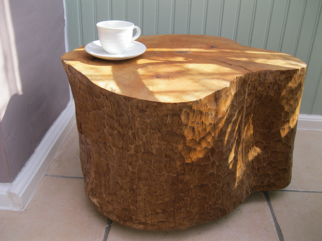 Hand carved solid wood coffee table folksy Hand carved coffee table