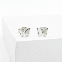 Petite Sterling Silver Butterfly Studs