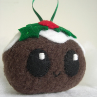 Christmas Pudding Softie Bauble