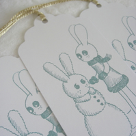 SALE Snow Bunny Winter Gift Tags