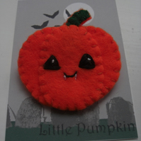 Spooky Sale Little Pumpkin Halloween Felt Pin