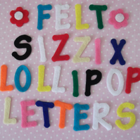 3cm DIE CUT FELT LETTERS OR NUMBERS X 15 - CHOICE OF COLOURS