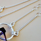 Modern silver glasses chain or pendant necklace