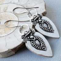 Berber Tuareg charm earrings with gunmetal ear wires