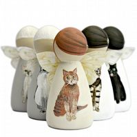 Special Cat Bereavement Gifts Fairy Peg Doll