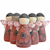 Poppy Remembrance Gifts Fairy Peg Doll