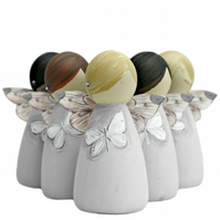 White Butterfly Bereavement Gifts Fairy Peg Doll