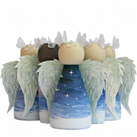Guardian Angel of Sleeping Babies Bereavement Gifts Peg Doll