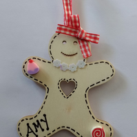 Gingerbread man wooden