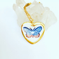 BUTTERFLY HEART PENDANT in Highest quality Ming porcelain