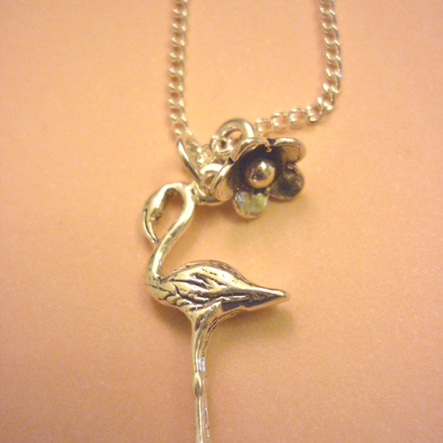 Sterling Silver Flamingo Fandango Necklace