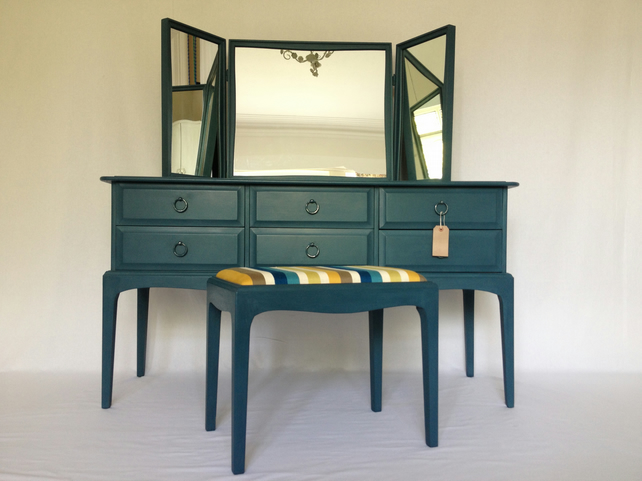 Stag Dressing Table With Stool Hand Painted Sha Folksy