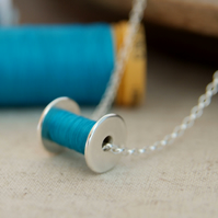 Seamstress Necklace, Cotton Reel, Bobbin, Gift for Crafters, wedding anniversary