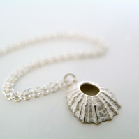 Sterling Silver Shell Necklace, Nautical Beach Necklace, Surf Jewellery