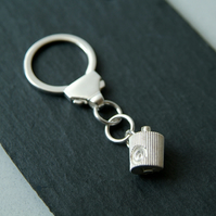 Silver Graffiti Keyring, Street Art Keyring, Spray Can Nozzle, Sterling Silver