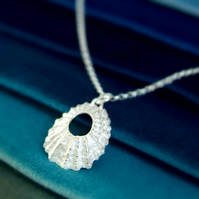 Silver Shell Necklace - Nautical Beach Jewellery