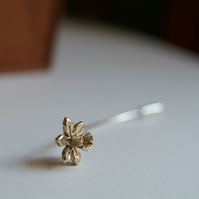 Daffodil Brooch, Spring Flower, Silver & Gold Pin, Mother's Gift, Wedding Flower