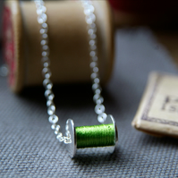 Bobbin Necklace - Silver Sewing Necklace