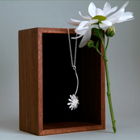 Daisy Chain Necklace, Silver Flower Necklace, Handmade Jewellery