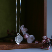 Flower Necklace, Sterling Silver Blossom Necklace,  Handmade Jewellery,