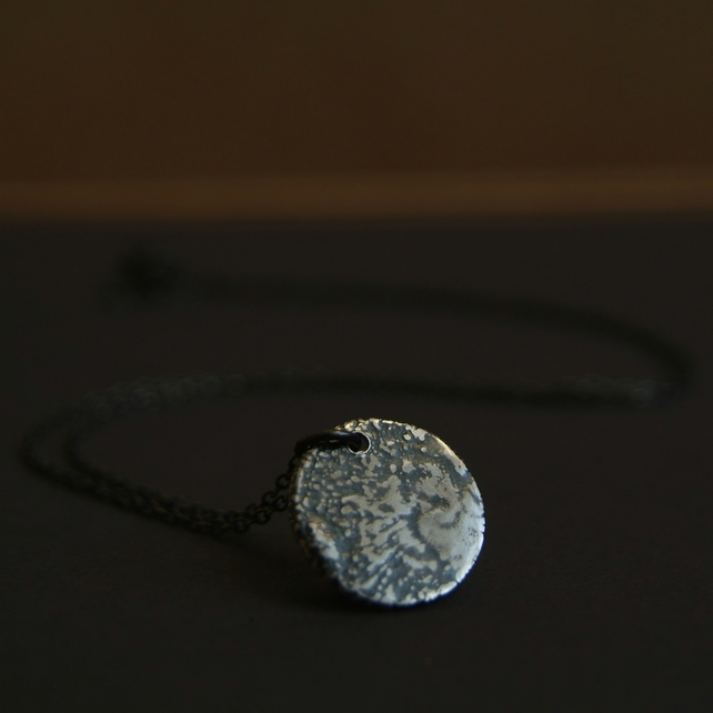 Full Moon Pendant - Silver Moon Jewellery - Moon Necklace for Luna Love