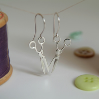Scissor Earrings, Sewing Earrings, Gift for Crafter, Seamstress Gift
