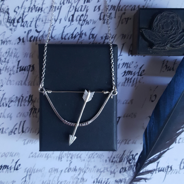 Silver Bow & Arrow Necklace
