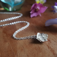 Flower Necklace - Sterling Silver Blossom Necklace