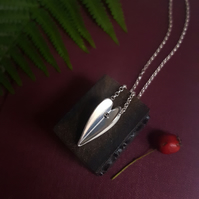 Silver Heart Pendant, Love Heart Necklace