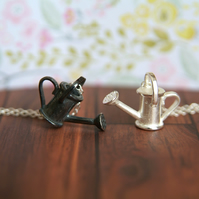 Watering Can Necklace, Garden Jewellery