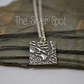 Pure Silver Handmade Square Pendant and Necklace
